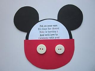 Sencillas Invitaciones De Mickey Fiestas Infantiles