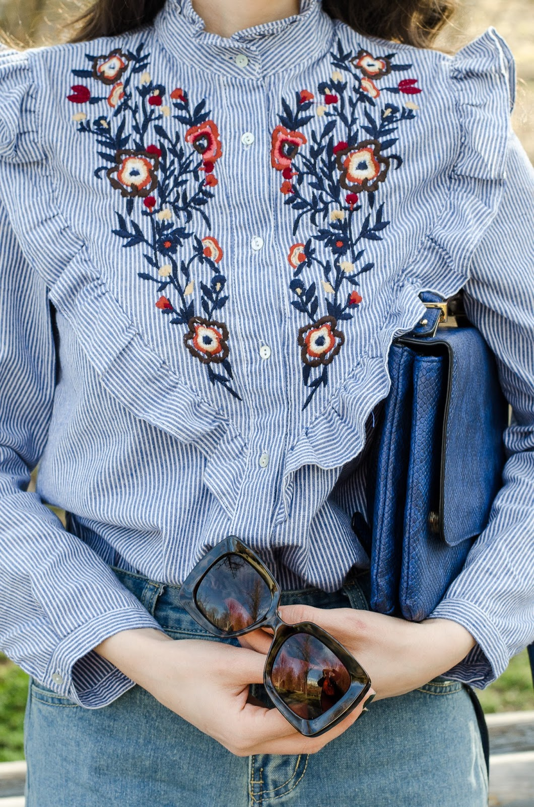 fashion blogger diyorasnotes mom jeans shein emroised shirt romwe hat asos