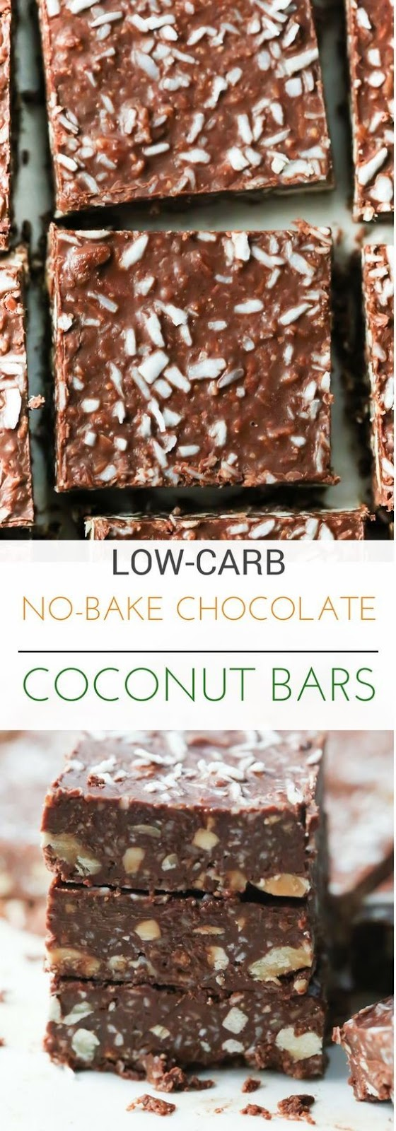 Delicious Low-Carb No-Bake Chocolate Coconut Bars