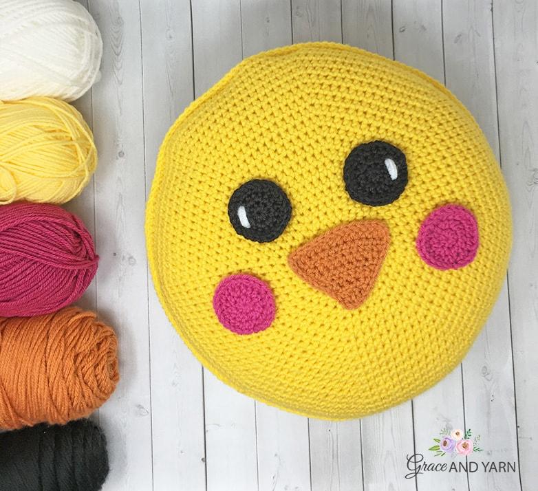 Free Crochet Chick Pillow Pattern