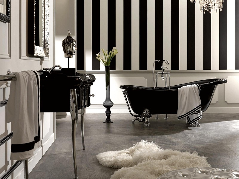 Black Tan And White Bathroom: Pinklet And C: Black + White Bathroom