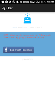 login with facebook par click kare