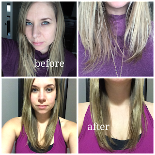 l'oreal color radiance before and after