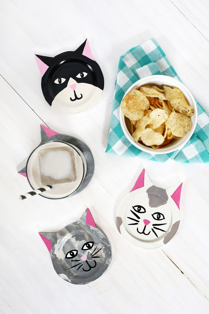 DIY Clay Kitty Coaster
