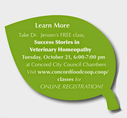 Homeopathy Success Stories in Animal Care – Concord Food Co-op