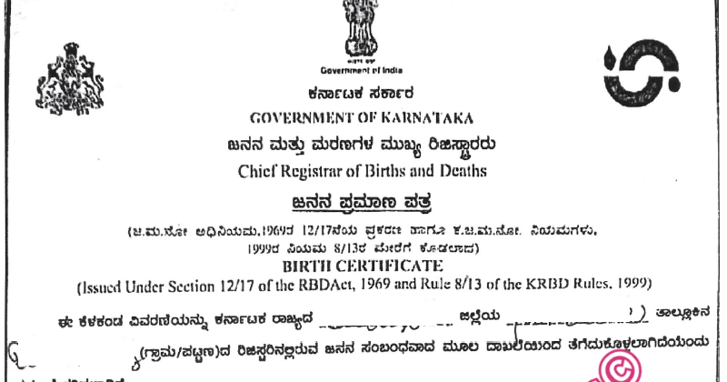 Kannada to English Translation of Birth Certificate for Immigration ...