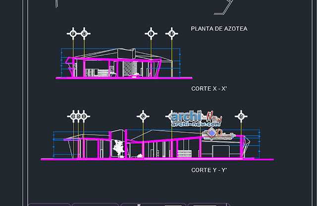 New gym modern in AutoCAD