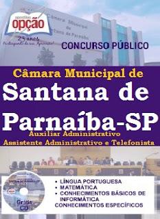 apostila concurso Câmara Municipal de Santana de Parnaíba 2016