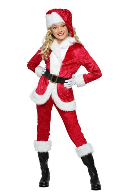 Sweet Santa Claus Costume Suit for Girls