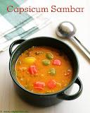 Capsicum sambar recipe