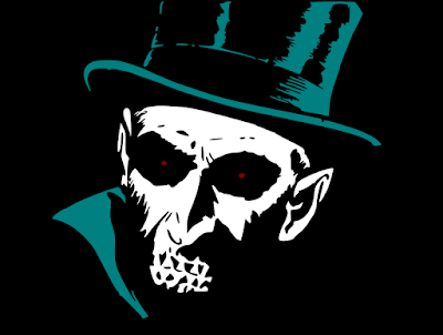 Dr. Death: A ghoulish head wearing a top hat