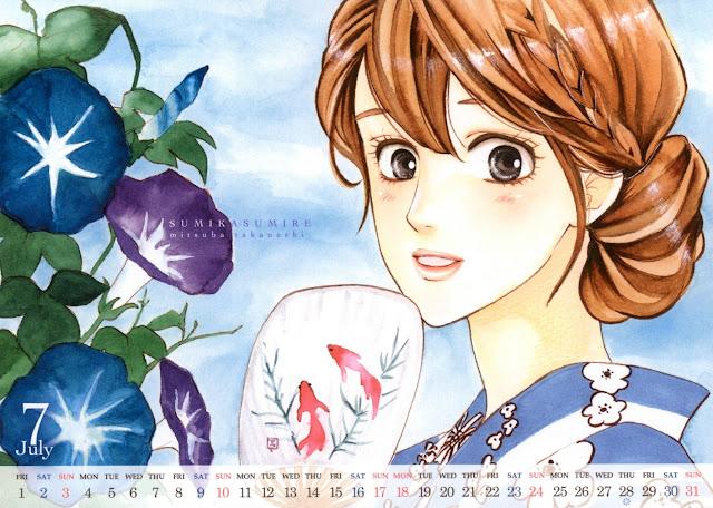 2016-07 Calendar Cocohana Takanashi Mitsuba - Sumika Sumire