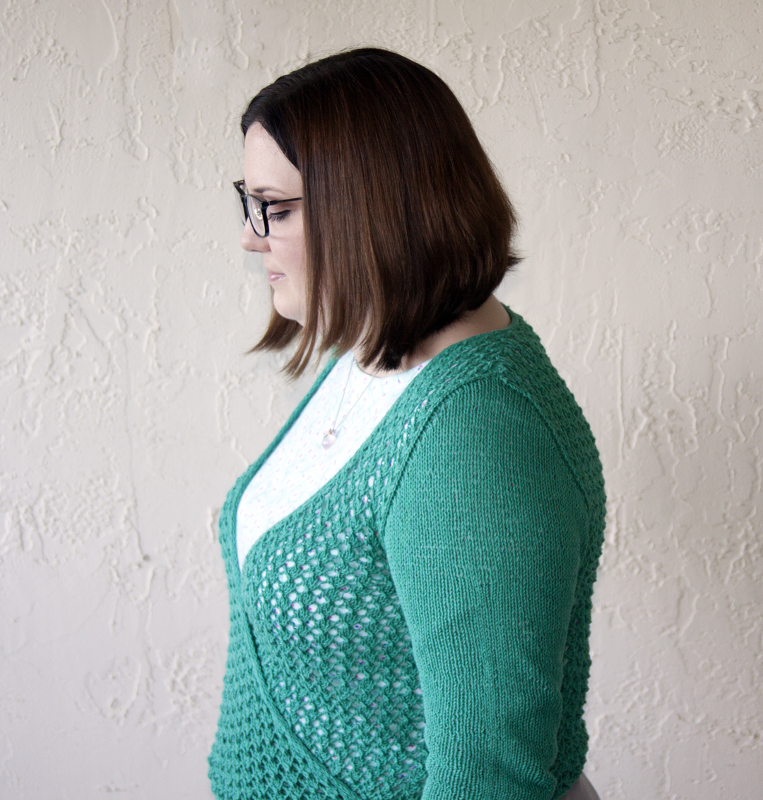df1ec2cbce9 The sweater is made with Andi s usual top-down in the round construction  and with set in sleeves. The sleeves are plain stockinette stitch and a  nice airy