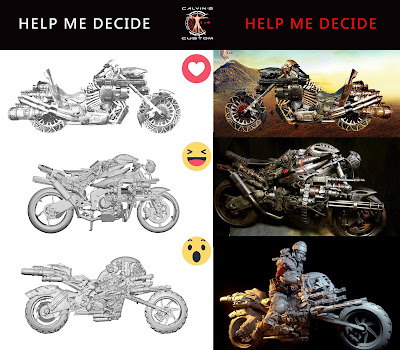 osw.zone Exclusive Interview with Calvin's Custom on Kickstarter Project: 1/6 MOTOPSYCLE: mGT, BORGHEAD & GUNRUNNER