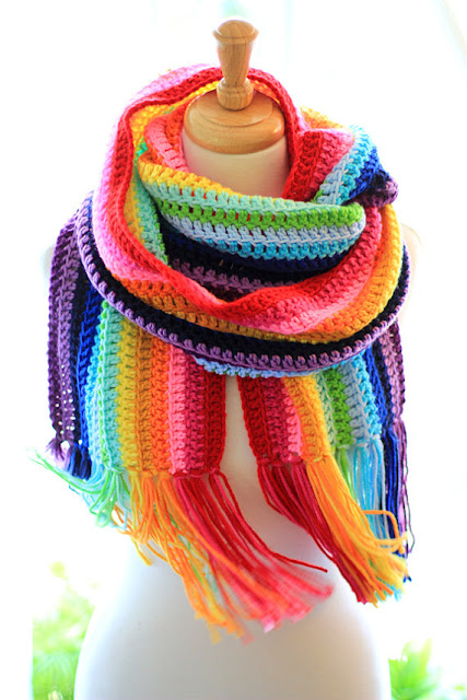 Rainbow Scarf by Mademoiselle Mermaid