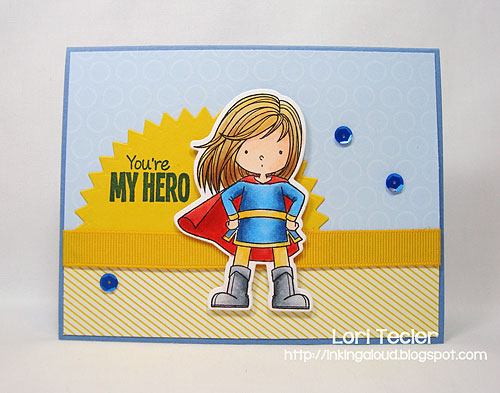 You're My Hero card-designed by Lori Tecler/Inking Aloud-stamps and dies from My Favorite Things