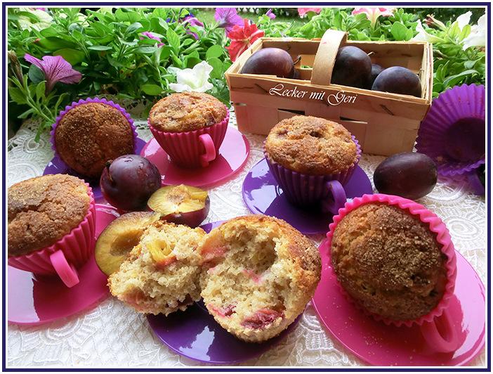 lecker mit geri die weltbesten zwetschgen muffins. Black Bedroom Furniture Sets. Home Design Ideas