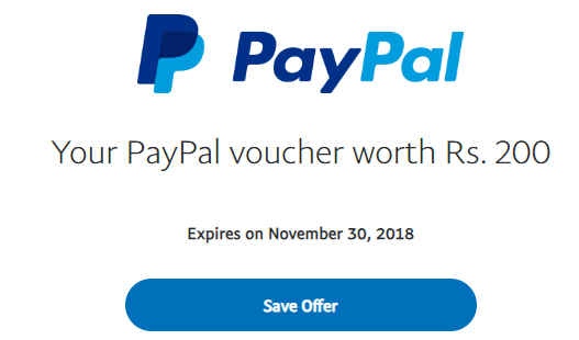 How To Get PayPal Rs.200 Diwali Voucher for Lucky Users