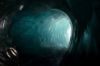 Light in the Glacier - Mer de Glace, France