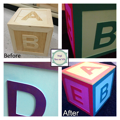 Frugal Mom And Wife Diy Wooden Abc Block Storage Box Under 20