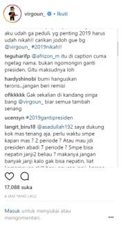 Virgoun Tulis 'Surat Cinta Untuk Jokowi' Luapan Amarah
