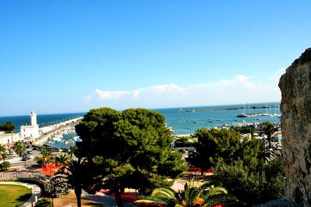 alberi, cielo, mare, panorama, porto