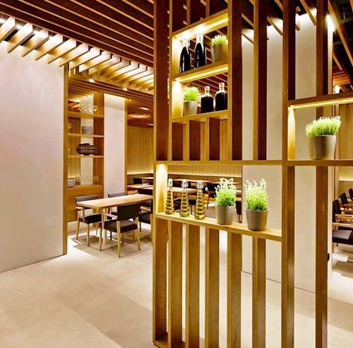 partition-made from wood-house-interior-Lampung