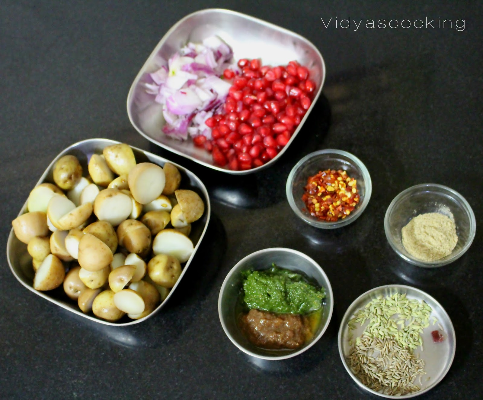Vidyascooking street food series aloo chaat recipe one small piece black salt or 14 tsp black salt powder 1 tbsp chilly flakes or chilly powder 1 tbsp chaat masala forumfinder Images