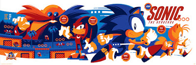 Sonic the Hedgehog Variant Metallic Blue Edition Screen Print by Tom Whalen x Skuzzles