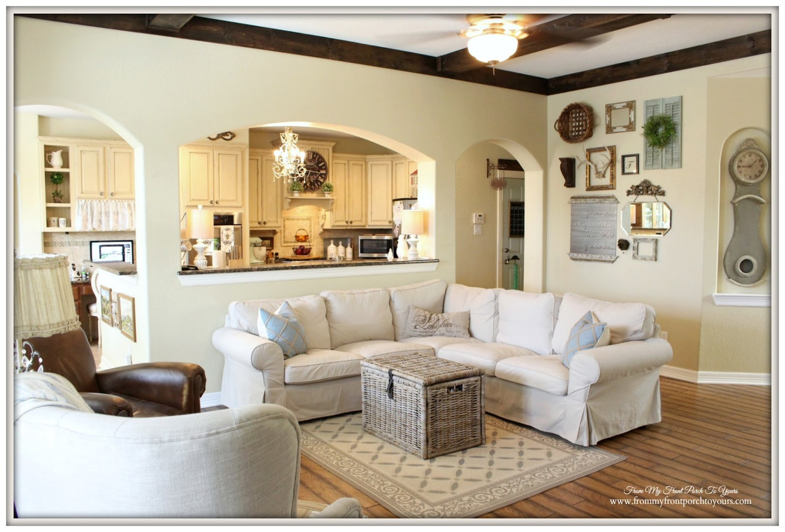 From My Front Porch To Yours: Farmhouse Living Room With ...