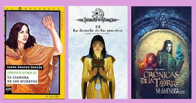 portadas de la novela juvenil fantástica La llamada de los muertos, de Laura Gallego