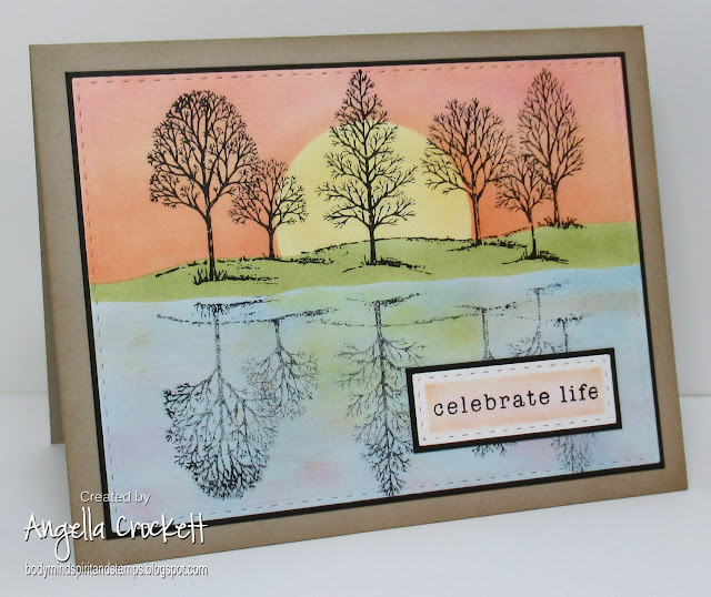 Stampin Up Lovely As A Tree, Stampin Up So Many Sayings, ODBD Custom Double Stitched Rectangles Dies, Card Designer Angie Crockett