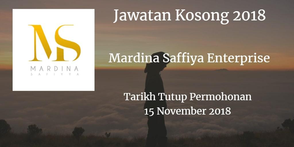 Jawatan Kosong Mardina Saffiya Enterprise 15 November 2018