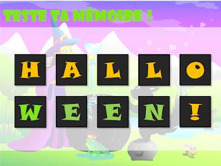 Halloween - jeu gratuit en ligne tablette mobile ordinateur dès la maternelle