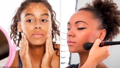 maquillage pour les filles à la peau foncée