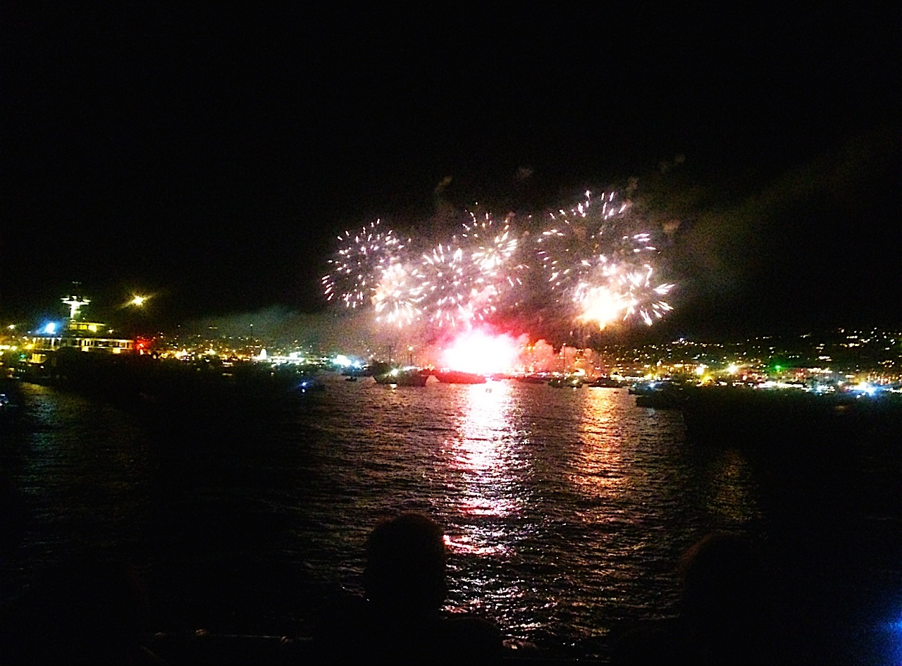 Fireworks in Nice, France