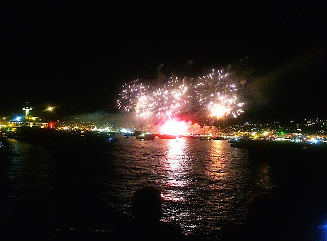 Fireworks in Nice, France