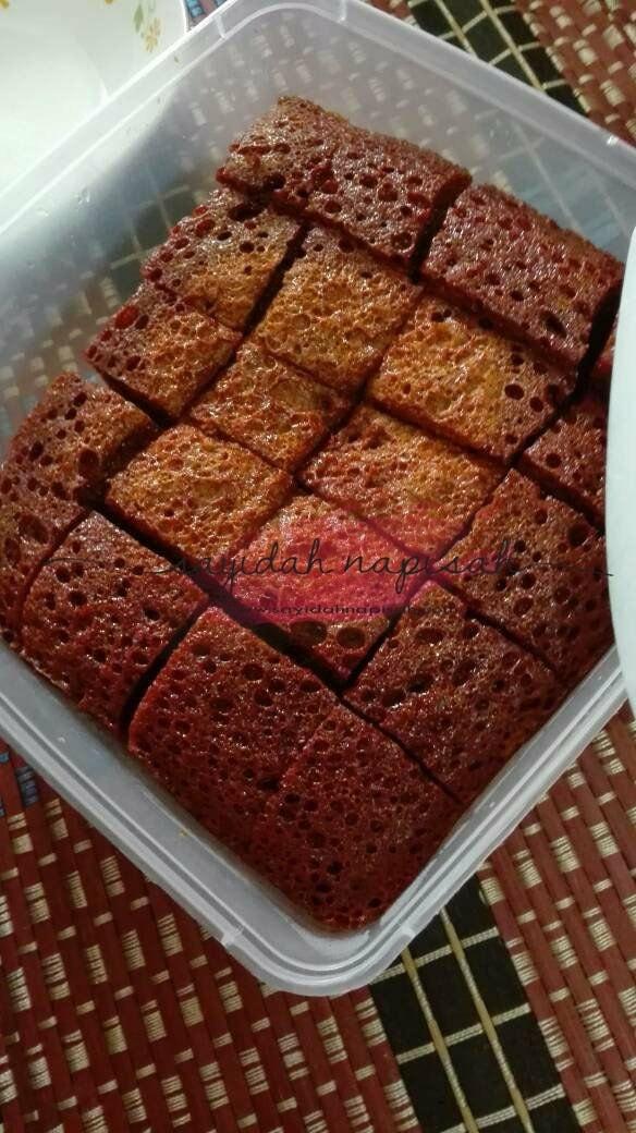 Resepi Mudah dan Sedap Kek Gula Hangus a.k.a Sarang Semut