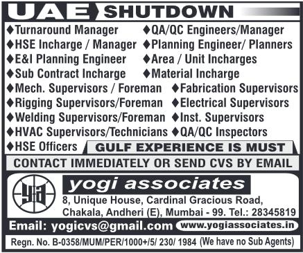 Shutdown Jobs In Uae