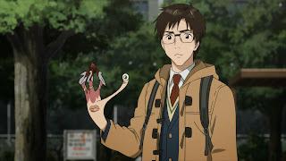 Tapeta HD z bohaterami Kiseijuu, Shinichi Izumi oraz Migi