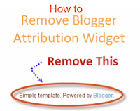 remove powered by blogger attribution widget