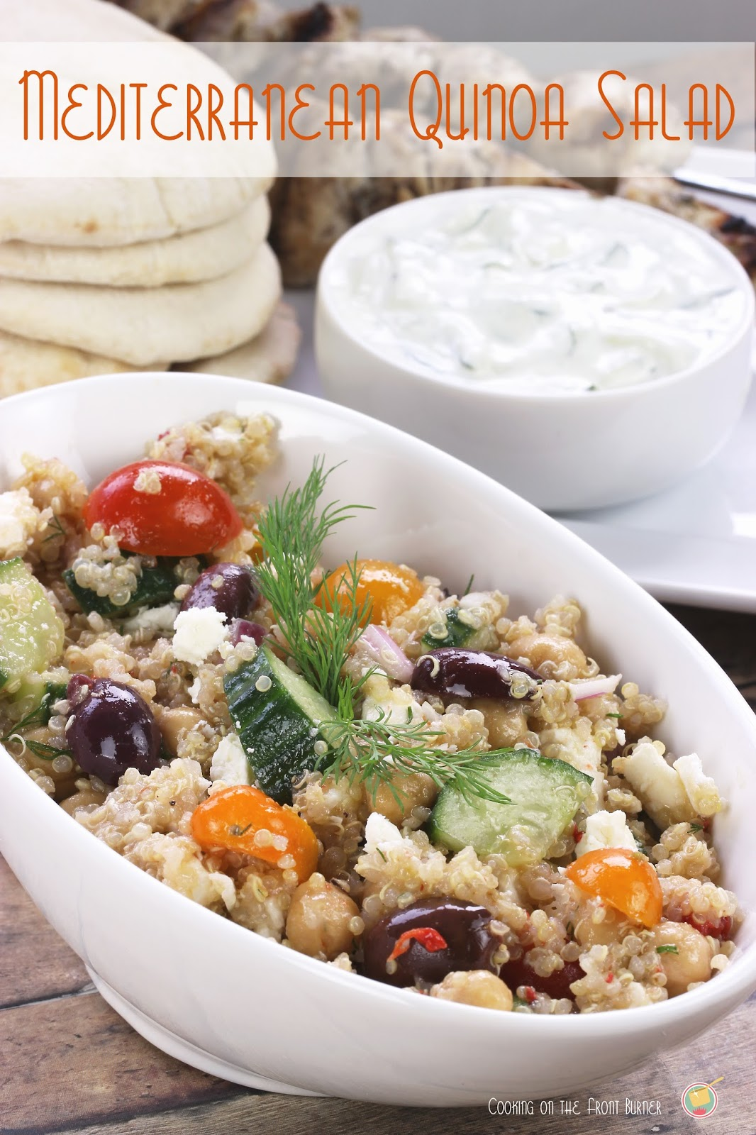 Mediterranean Quinoa Salad | Cooking on the Front Burner