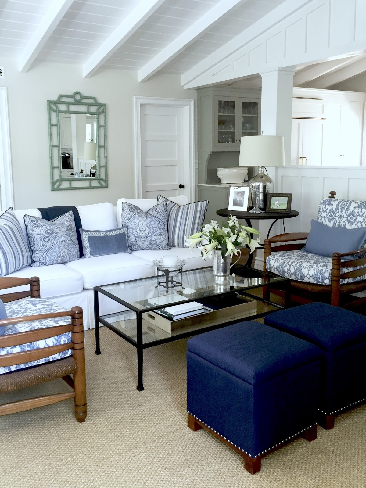 Blue and White Casual Beach Cottage Classic Casual Home
