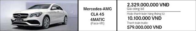 Giá xe Mercedes AMG CLA 45 4MATIC 2018 tại Mercedes Trường Chinh