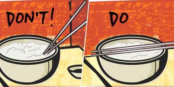 chopstick etiquette