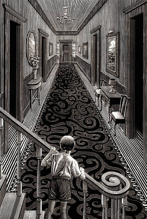 23-Who-is-at-the-Door-Douglas-Smith-Scratchboard-Drawings-Through-Time-and-Lives-www-designstack-co