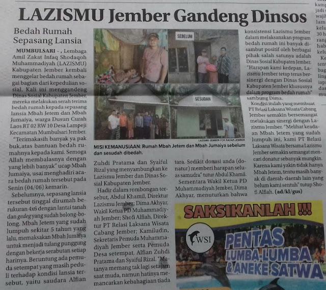 Berita Radar Jember-Jawa Pos, Rabu, 06 Juni 2018