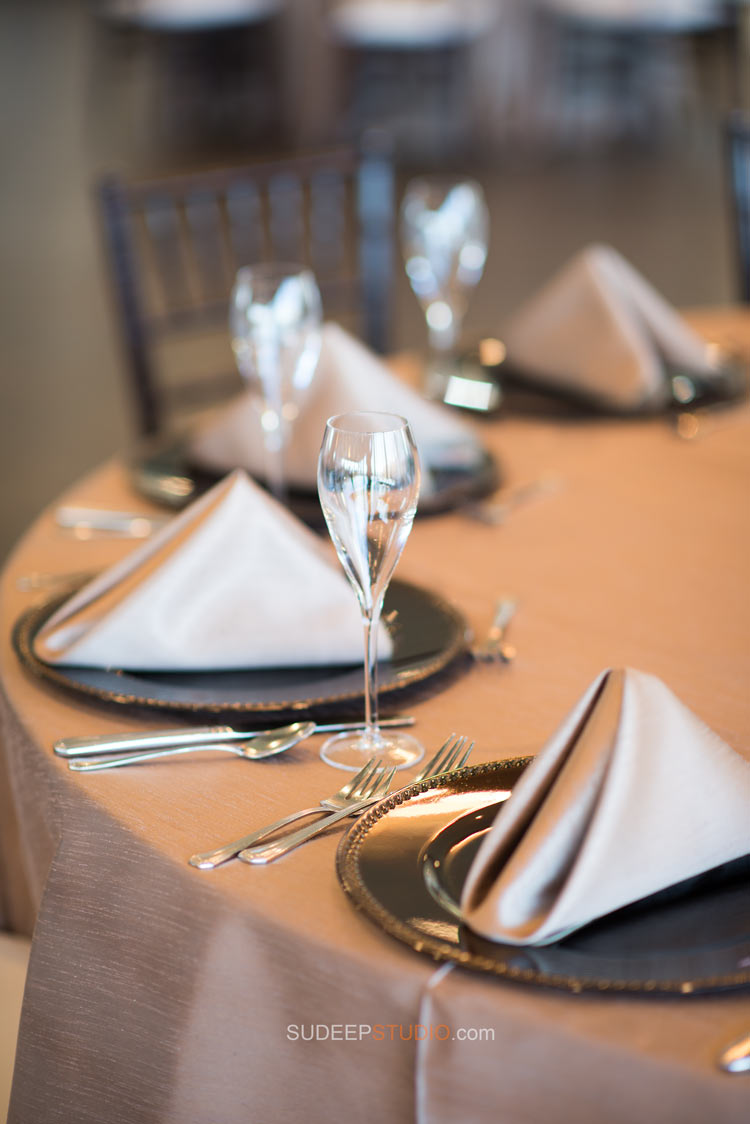Grosse Pointe War Memorial Wedding Table settings - Wedding Photography - Sudeep Studio.com