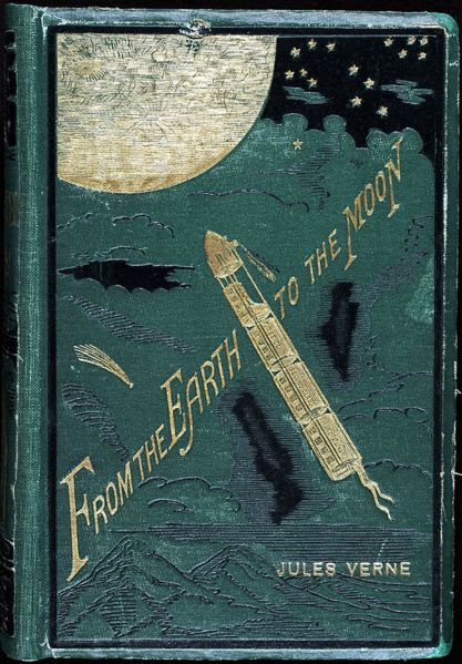 jules verne from the earth to the moon book cover