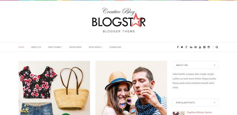 Blogstar Free Blogger Template
